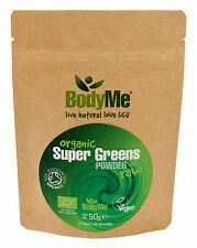 BodyMe Organic Super Greens Mix | 50 g Powder | Soil Association Certified