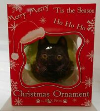 NEW Black Cat Ornament Christmas Ball from E&S Pets