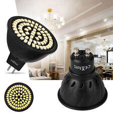 LED Spot Lights Bulbs MR16 GU10 5W 7W 2835 SMD AC 220V Black Lamp Energy Saving