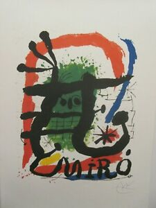 JOAN MIRO  -  UNTITLED  FACSIMILIE SIGNED   NEVER FRAMED   XXE  1994  SOLD OUT