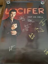 Lucifer Television Main Cast Signed Poster