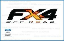set of 2: 2012 Ford F150 FX4 Off Road Decals offroad Stickers flame - FIRE
