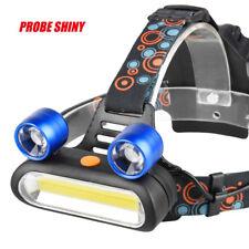 15000LM 2x XM-L T6 LED +COB Rechargeable 18650 Headlamp Headlight Torch Lamp UK
