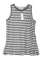 LOFT - Women's S - NWT$39 - Black & White Mix Striped Print Rayon Knit Tank Top