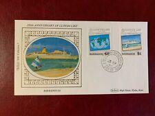 BARBADOS 1984 FDC BENHAM LLOYDS LIST SEA PRINCESS WORLD MAP