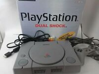 Sony Playstation 1 ps1 Dual Shock Console with Box