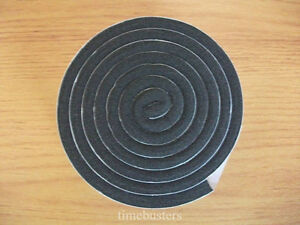 1m Black Single Sided Foam Tape Closed Cell 10mm Wide x 6mm Thick