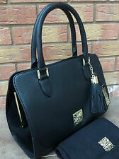 "BIBA BLACK PEBBLED LEATHER & SUEDE ""SKYLER""  TOTE BAG BNWT RETAIL £199"