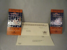 2000 Formula One Indy Us Grand Prix 2 complete tickets progam protective sleeve