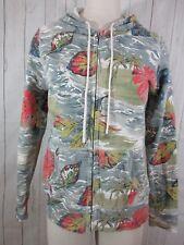 Lucky Brand Size L Tropical Print Full Zip Long Sleeve Hoodie Sweatshirt