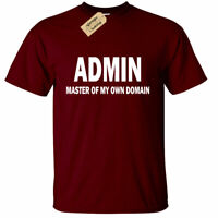 Mens ADMIN Master of my own domain T Shirt funny geek nerd computer it science