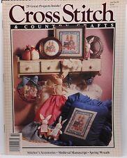 Lot of 2 Cross Stitch + Country Crafts Magazines Jan/Feb 90, Sept/Oct 90    1266