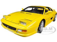 FERRARI F355 BERLINETTA YELLOW ELITE EDITION 1/18 MODEL CAR BY HOTWHEELS X5479