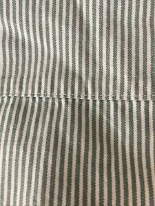 1990s Flat SB Ticking Stripe 100% Cotton Made In AU Sheet 165 x 230