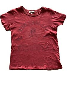 Junk Food Womens New England Patriots Vintage Style Euc Red S Small T Shirt Top