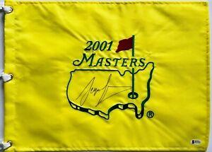 Sergio Garcia signed Masters flag augusta golf full sig beckett coa pga