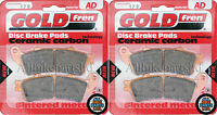 HONDA CBR 1100 XX BLACKBIRD CBR1100 SINTERED FRONT BRAKE PADS (2 pair) GOLDFREN