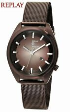 Authentic REPLAY Watch Royal Collection Mahogany Mesh