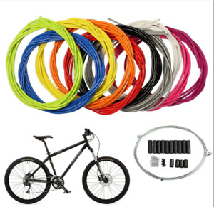 Bike Bicycle Front Rear Inner Outer Gear Derailleur Hose Housing Cable Kit