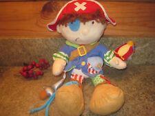 "Manhattan Toy Plush 14"" Pirate Doll Teach & Learn to Dress Button, Zip, Tie"