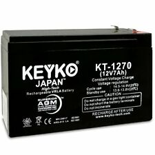 12V 7AH CA1270 UPS Replacement Battery for Power-Sonic Battery PS-1270-F1+F2