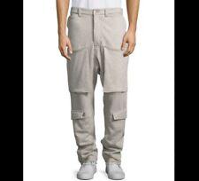 New Hudson NYC Mens Dollar Print Gray Drawstring Fleece Jogger Sweat Pants S