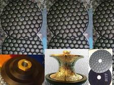 "1/2"" 3/4"" Full Bullnose Diamond Router 4"" DRY Polishing Buff Granite countertop"