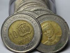 Roll (20) Mexico Bi-Metal 10 Peso Coins Mixed Dates~Free Shipping