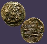 Archaios | King of Macedon Demitrios Poliorketes Poseidon Prow Labrys BA | i35.8