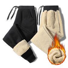 Herren Freizeithose Sportlich Fleece Gefüttert Dicke Jogginghose Warme Hose