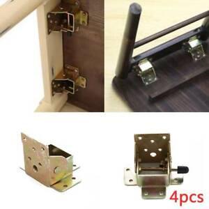 4X Iron Locking Folding Table Chair Leg Brackets Hinges 75mm x60mm x55mm Kits