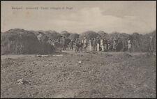 cartolina militare BENGASI dintorni UADAI villaggio di negri