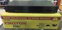 BRAND NEW HiFi PROTON 690 TV Sound Decoder HIGH END VINTAGE!
