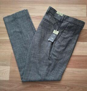 "M&S Grey Slim Fit Textured Trousers 34"" Waist 31"" Leg"