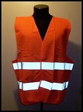 Orange Safety Vest Car Repair Biking Walking Jogging Rescue Security Visibility