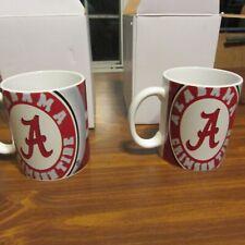 Alabama Crimson Tide White Coffee Mug 2 Cups Tea Sport Ceramic Glass NCAA NIB