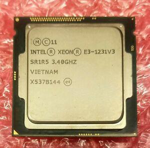 Intel Xeon Processor E3-1231 V3 3.40GHz turbo 3.8Ghz CPU 8MB Cache SR1R5 LGA1150