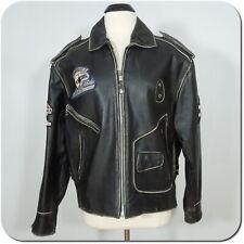 VANGUARD Vintage LEE TREVOR Motorcycle Leather Jacket size M