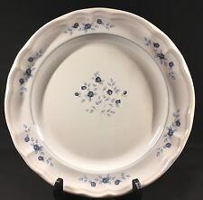 """Pfaltzgraff Poetry Blue Rose Gray Dinner Plate 10"""" Diameter VGC"""