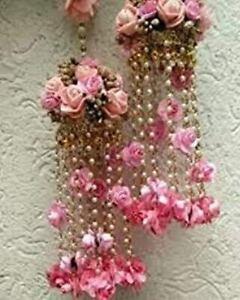 Pink Kalire Jewelry Bridal Flower Jewelry Kalera Wedding jewelry,Haldi,Sangeet