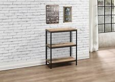 Birlea Urban Industrial Chic 3 Tier Shelving Unit Bookcase Shelves Wood Metal