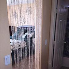 String Door Curtain Room Divider Window Panel Tassel Crystal Fringe Adorn