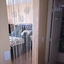 String Door Curtain Beads Room Divider Window Panel Tassel Crystal Fringe Adorn