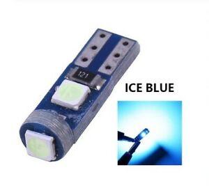 Ampoule T5 LED W1.2 Bleu glacial Canbus Veilleuse SMD Miroirs lampe tableau bord