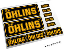 Custom set Ohlins fork stickers suspension mx enduro glossy lamination