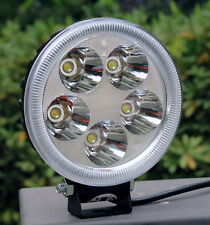 12V 15W LED Spot Light Motorcycle ATV Moped Boat Off Road Headlight Waterproof