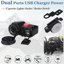 Dual USB Charger Cigarette Lighter For Honda VTX 1300 1800 TYPE C R S N T RETRO