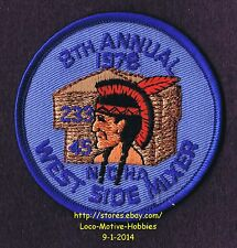 """LMH PATCH Badge 1978 WEST SIDE MIXER CAMPOUT  Campers Hikers NCHA MSA Indian 3"""""""