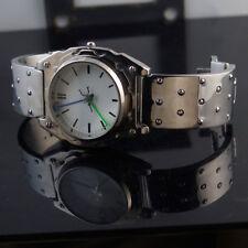 Mens wrist watch vintage minimalistic design Goth Cyber punk gift for him Hi Tek