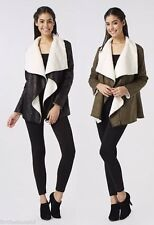 Patternless Biker Jackets without Fastening for Women